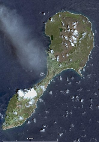 Pagan (island) - Landsat view of Pagan