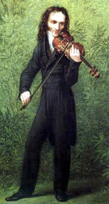 Paganini par Kersting (détail) vers 1830.