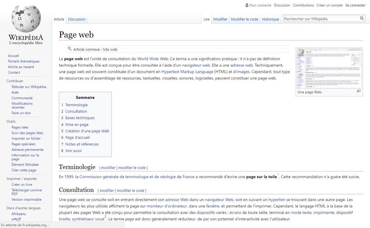 page web � wikip233dia