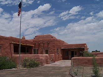 Pueblo Revival architecture - Painted Desert Inn, a National Historic Landmark in Arizona