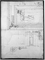 Palazzo Massimo alle Colonne, portico, elevation; portal, cornice, section; portal bracket, detail; fireplace, detail (recto) blank (verso) MET sf49 92 05r-MM35200.jpg