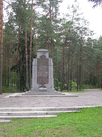 Ponary massacre - Image: Paneriai monument 3