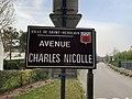 Panneau de l'avenue Charles Nicolle (Saint-Herblain).jpg
