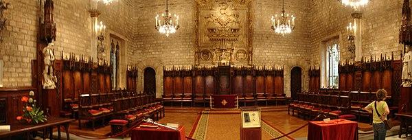 Panoràmica del Salo de Cent (Ajuntament de Barcelona)