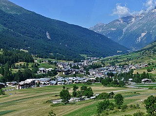 Lanslevillard Part of Val-Cenis in Auvergne-Rhône-Alpes, France