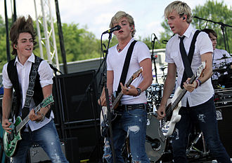 R5 (band) - Rocky, Ross and Riker on R5 West Coast Tour, in 2012