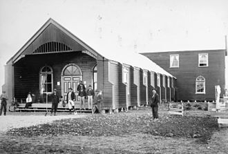 Te Kotahitanga - Pāpāwai House in 1897, built to host the 6th and 7th sittings of the Kotahitanga Parliament.