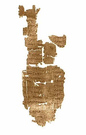 Papyrus Oxyrhynchus 208 + 1781 - Image: Papyrus 5 Oxyrhynchus 1781 British Library, inv. 2484 John 1, 20