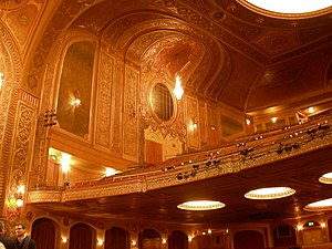 Paramount Theatre (Seattle) - Interior and balcony of Paramount Theatre