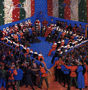 Lit de justice - Lit de justice of king Charles VII at parlement de Paris, in 1450.