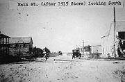 Downtown Pasadena after the 1915 Hurricane.