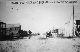 Pasadena, Texas - Downtown Pasadena after the 1915 Hurricane.
