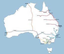 Histoire des chemins de fer australiens — Wikipédia