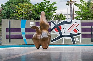 Carlos Raúl Villanueva - Cloud Shepherd (Hans Arp) and Mural (Mateo Manaure) at the Ciudad Universitaria