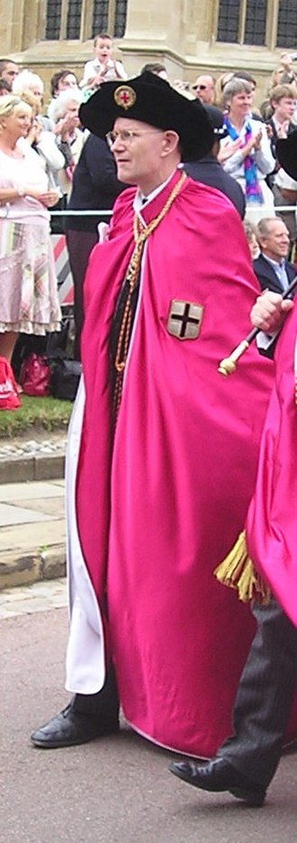 Clarenceux King of Arms - The current Clarenceux King of Arms, Patric Dickinson, on Garter Day, dressed in the robe of the Secretary of the Order of the Garter