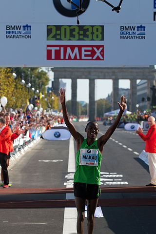 Patrick Makau at the Berlin Marathon 2011.jpg