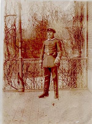 18th Reserve Division (German Empire) - Paul Karl Albert Jüngling in formal uniform for the 18th Reserve Division