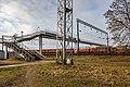 Pedestrian overhead passage (footbridge) over the railway station Šabany in Minsk.jpg