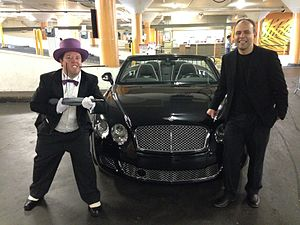 Batkid - The Penguin and a henchman actors from SF Batkid Wish