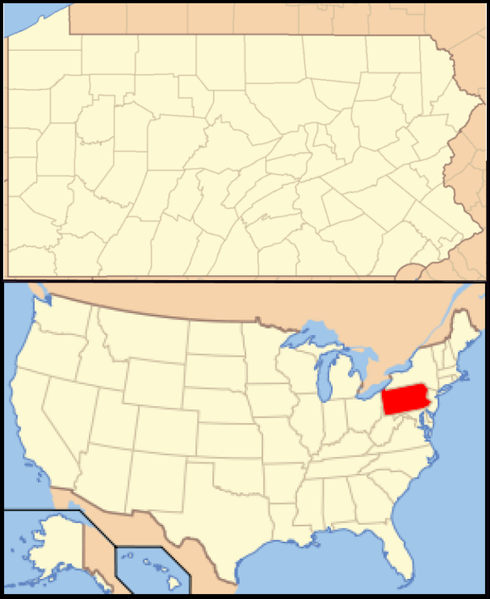 tóng-àn:Pennsylvania Locator Map with US.PNG