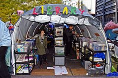 Peoples Library Occupy Wall Street 2011 Shankbone.JPG