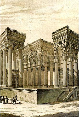 Apadana - Reconstruction of the Apadana by Chipiez
