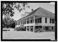 Perspective view looking from the east, with scale - Oaklawn Plantation, Highway 494, Natchez, Natchitoches Parish, LA HABS LA-1317-10.tif