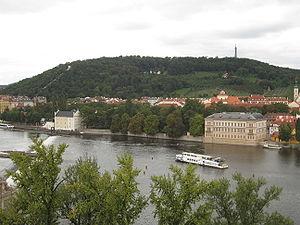 Petřín - Petřín as seen from the Old Town Bridge Tower