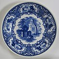Petrus Regout & Co. bread and butter plate Abbey blue 001 front.jpg