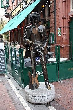 Phil Lynott statue, Dublin, October 2010