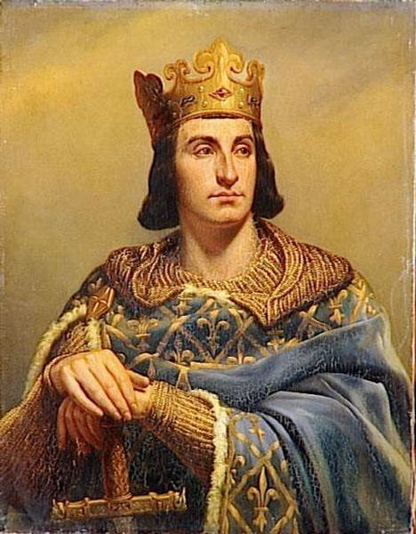 Philip II, King of France, in a 19th-century portrait by Louis-Félix Amiel