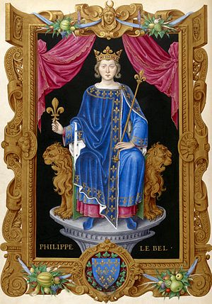 Giovanni Villani - A 16th-century depiction of Philip IV of France, one of many victims of ill fate who Villani states fell from power and grace due to sin and immorality rather than fortune or circumstance