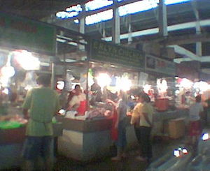 Palengke - The EDSA Central public market in Mandaluyong City, Metro Manila.