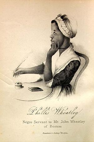 Phillis Wheatley. A variant of earlier frontis...
