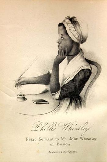 English: Phillis Wheatley. A variant of earlie...