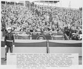 Photograph of the presidential box at the Penn State-Navy football game, during President Truman's visit to the U.S.... - NARA - 198656.tif