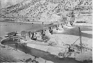 Roller dam - The Grand Valley Diversion Dam, an active roller dam in De Beque Canyon near Grand Junction, Colorado.