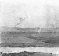 Piet Mondriaan - Polder landscape, smoke rising in background - A235 - Piet Mondrian, catalogue raisonné.jpg