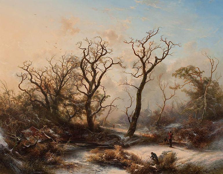 File:Pieter Kluyver - Winterlandschap met spookachtige bomen.jpg