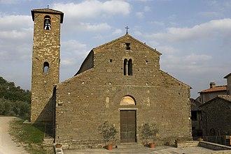 Figline Valdarno - Pieve of San Romolo, at Gaville.