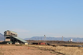 Pikes Peak International Raceway - The stands and part of the infield, viewed from the south
