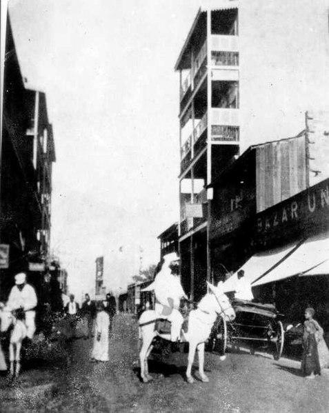 הרצל על חמור לבן ברחובות סמירנה