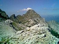 Il Monte Pisanino sulle Alpi Apuane