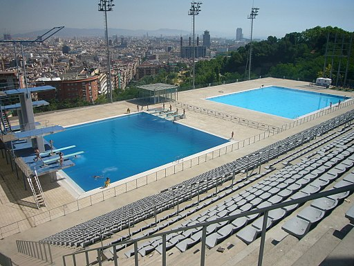 Piscina Municipal de Montjuïc - vista general