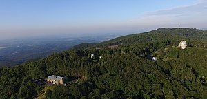 Konkoly Observatory - Aerial image of Piszkéstető Mountain Station of the Konkoly Observatory in the Mátra hills.
