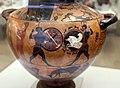Pittore del louvre E739, hydria ricci, etruria (artigiani da focea), dalla banditaccia, 530 ac. ca., duello di achille e mnemone 2.jpg