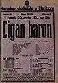 Plakat za predstavo Cigan baron v Narodnem gledališču v Mariboru 20. aprila 1922.jpg