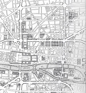 Eugène Hénard - Plan for great crossroads in Paris