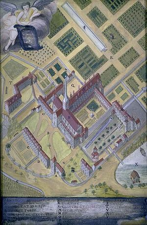 Architectural drawing - 18th century axonometric plan, Port-Royal-des-Champs.