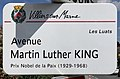 Plaque Avenue Martin Luther King - Villiers-sur-Marne (FR94) - 2021-05-07 - 1.jpg